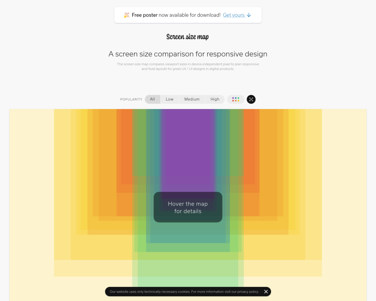 Screen Size Map An Interactive Map Of Screen Sizes For Responsive Web Design