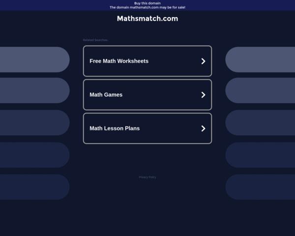 http://mathsmatch.com