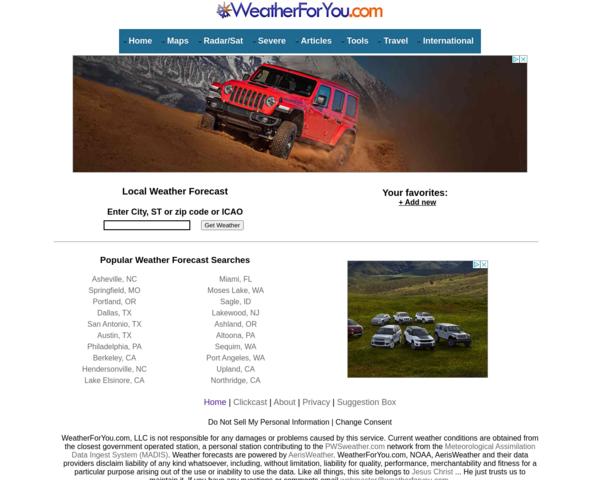 http://www.weatherforyou.com