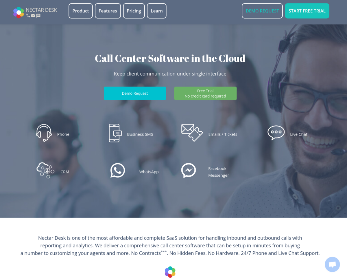 Nectar Desk: The most complete and affordable call center software