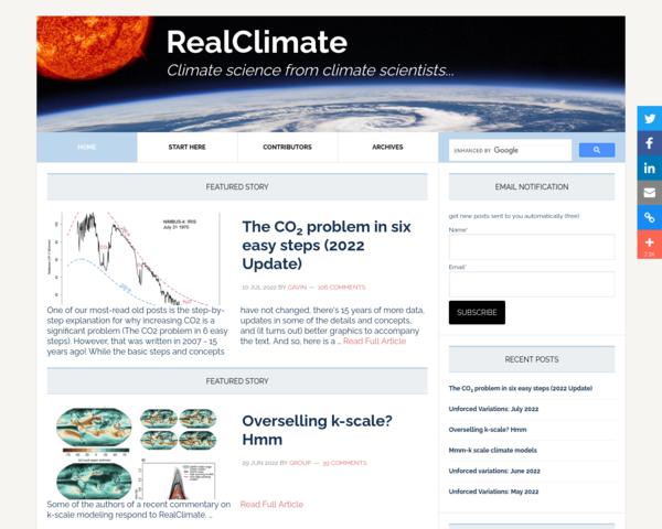 http://www.realclimate.org