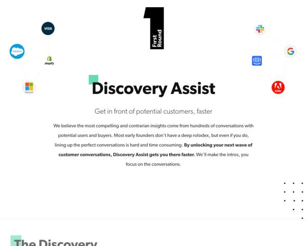 https://discoveryassist.firstround.com/