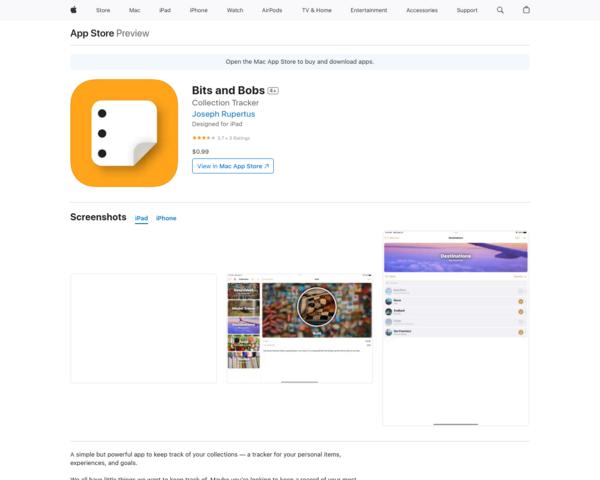 https://apps.apple.com/us/app/bits-and-bobs/id1554786457