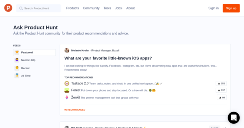 Ask Product Hunt