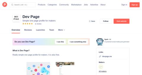 Dev Page