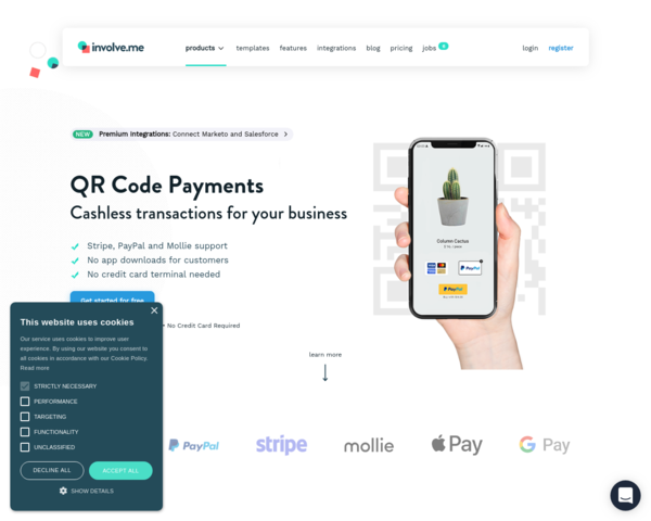 https://www.involve.me/cashless-payments/