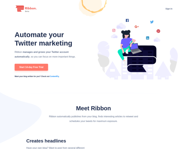 https://ribbon.social/