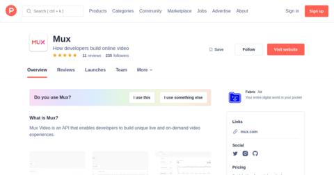 Mux Video Live