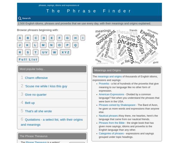 http://www.phrases.org.uk