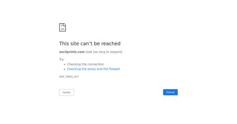 ASCII Prints