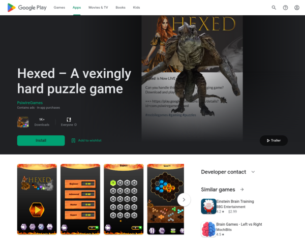 https://play.google.com/store/apps/details?id=com.psiwiregames.hexed