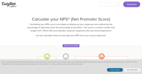 Interactive NPS Calculator (by Delighted)