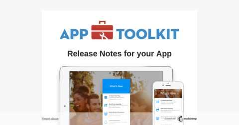 App Toolkit Release Notes