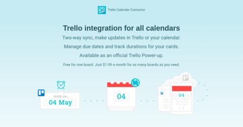 Trello Calendar Connector by Cronofy