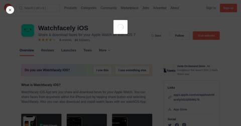 Watchfacely iOS