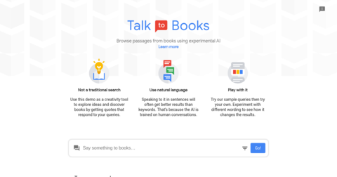 Talk to Books by Google