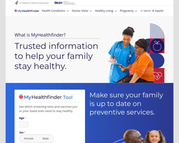http://www.healthfinder.gov
