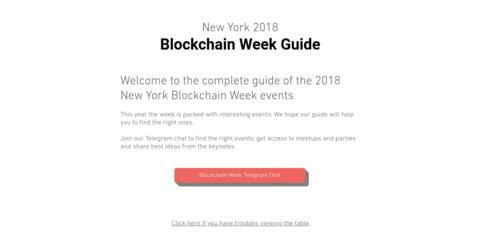 NY Blockchain Week Guide 2018