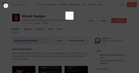 Movie Swiper
