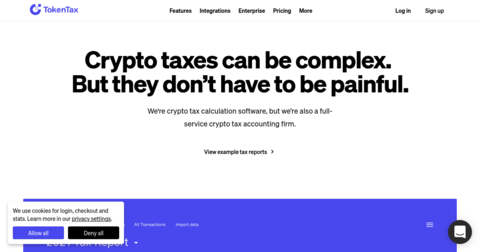 TokenTax: Cryptocurrency Taxes Done Right