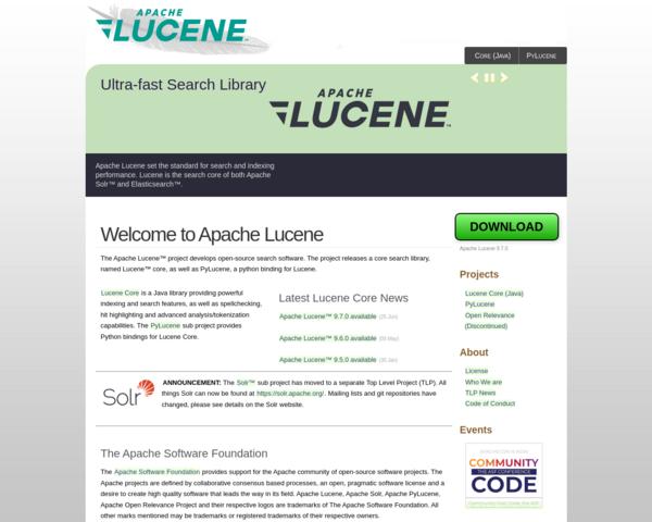 http://lucene.apache.org
