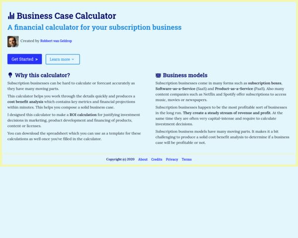 https://www.businesscasecalculator.com/
