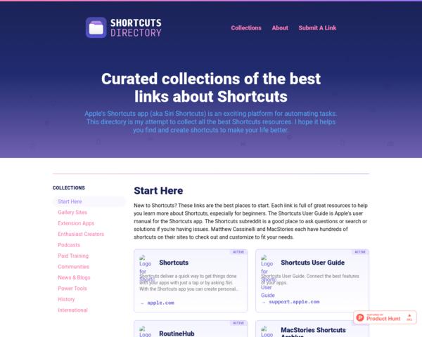 https://shortcuts.directory/