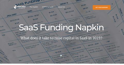 SaaS Funding Napkin