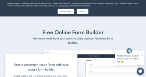 HubSpot Free Forms