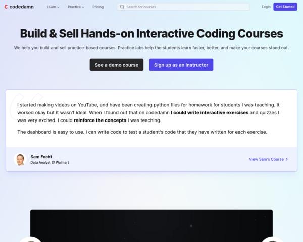 https://creator.codedamn.com/