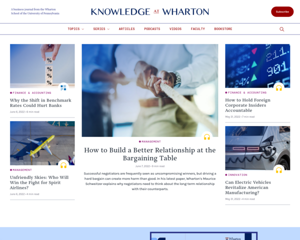 http://knowledge.wharton.upenn.edu