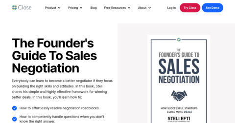 The Founder's Guide To Sales Negotiation by Steli from Close.io