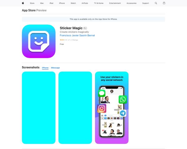 https://apps.apple.com/us/app/sticker-magic/id1558511548