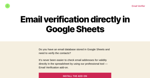 Email Verification Tool for Google Sheets