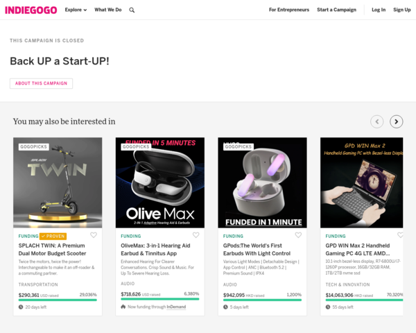 https://www.indiegogo.com/projects/back-up-a-start-up/