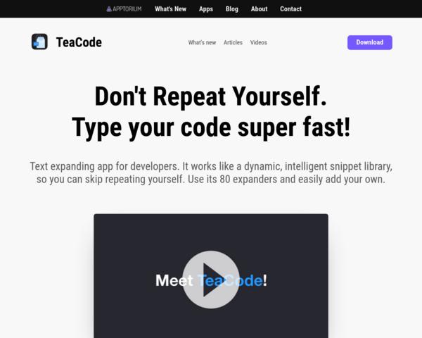 http://apptorium.com/teacode