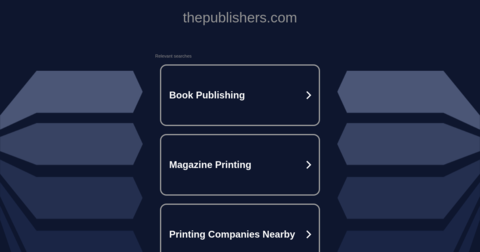 The Publishers