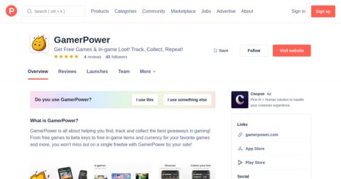 GamerPower 2.0