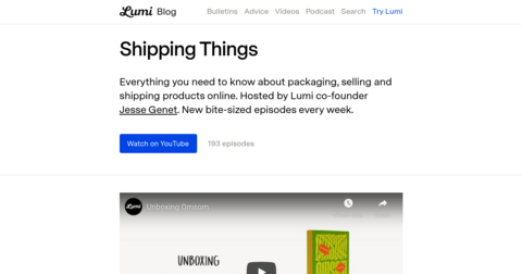 Shipping Things by Lumi