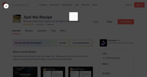 Just the Recipe