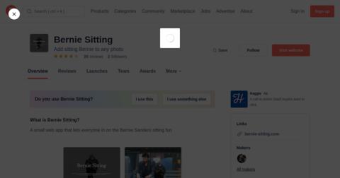 Bernie Sitting