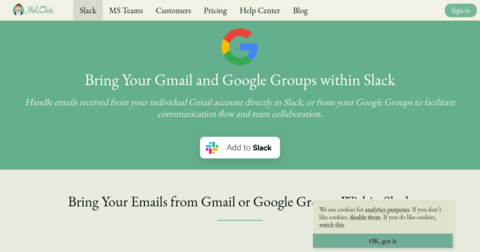 Gmail for Slack by MailClark
