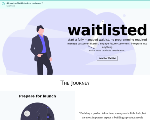 https://www.waitlisted.co