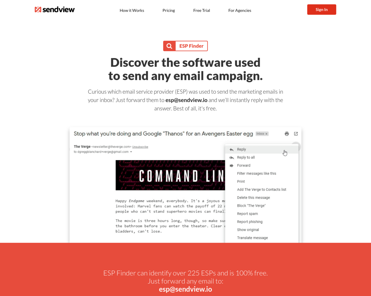 ESP Finder: Discover the software used to send any email