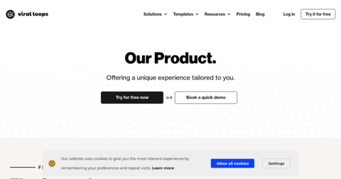 Landing pages by Viral Loops