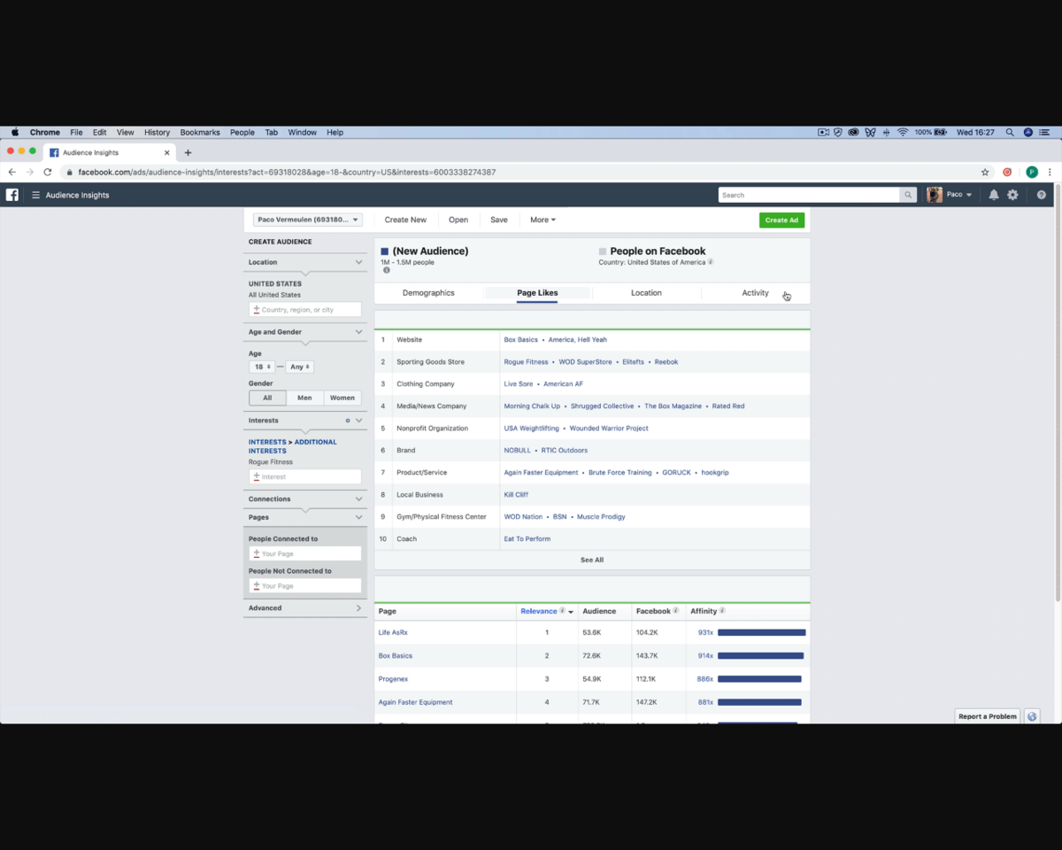 Facebook Audience Insights Helper: Chrome extension that