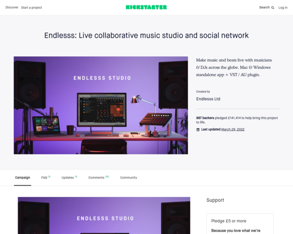https://www.kickstarter.com/projects/endlesss/endlesss-studio-live-collaboration-from-any-daw-to-any-daw