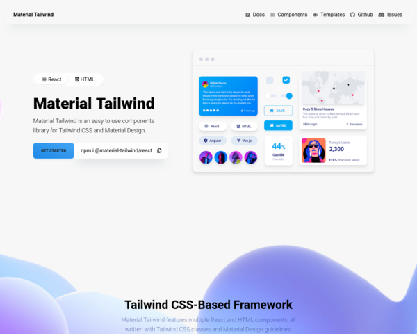 https://material-tailwind.com/