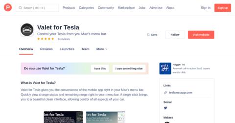 Valet for Tesla