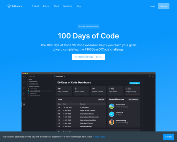https://www.software.com/100-days-of-code